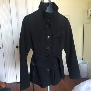 Women's High Collar Peacoat Jacket